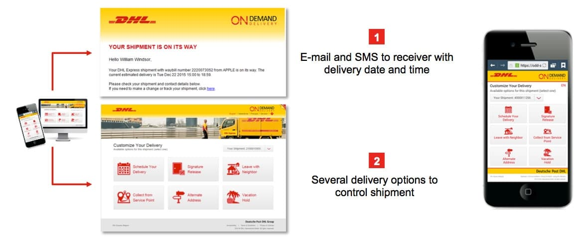DHL ODD On-Demand-Delivery demo
